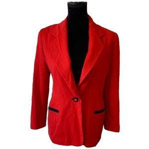 Escada Margaretha Ley Red Blazer